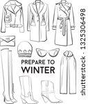 winter autumn collection woman... | Shutterstock .eps vector #1325306498