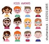 kids avatars cartoon flat...   Shutterstock .eps vector #1325311805