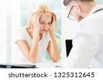 male doctor is talking to...   Shutterstock . vector #1325312645