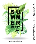 tropical hawaiian party...   Shutterstock .eps vector #1325313275