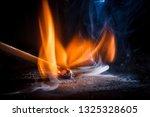 Close Up Of A Burning Wood...