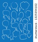vector bubbles speech set. hand ...   Shutterstock .eps vector #1325354102