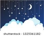night sky paper clouds stars...   Shutterstock .eps vector #1325361182