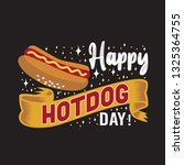 hotdog quote and saying. happy...   Shutterstock .eps vector #1325364755