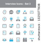 interview icons   set 3 | Shutterstock .eps vector #1325377838