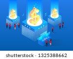 business team financial data... | Shutterstock .eps vector #1325388662