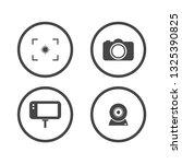 camera icons set. video icon....