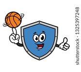 cartoon shield character...   Shutterstock .eps vector #1325397248