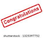 congratulations stamp red... | Shutterstock . vector #1325397752