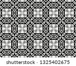 ornament with elements of black ... | Shutterstock . vector #1325402675