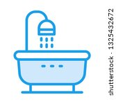 shower bath tub    | Shutterstock .eps vector #1325432672
