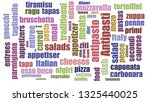 antipasti tag cloud mixed on... | Shutterstock . vector #1325440025