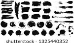 set of black ink hand drawn... | Shutterstock .eps vector #1325440352