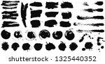 set of black ink hand drawn... | Shutterstock .eps vector #1325440352