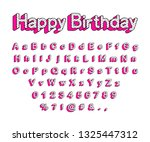 cute 3d letters of the english... | Shutterstock .eps vector #1325447312