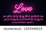 vector neon alphabet on wall... | Shutterstock .eps vector #1325448515