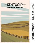 Kentucky Retro Poster. Usa...