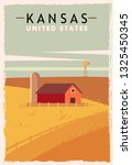 Kansas Retro Poster. Usa Kansas ...
