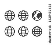 global vector icon set  round... | Shutterstock .eps vector #1325451638