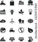 solid black vector icon set  ... | Shutterstock .eps vector #1325471585
