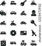 solid black vector icon set  ... | Shutterstock .eps vector #1325472932