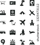 solid black vector icon set  ... | Shutterstock .eps vector #1325473112
