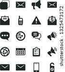 solid black vector icon set  ... | Shutterstock .eps vector #1325473172