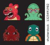 1 Set Of Animal Avatars With 4...
