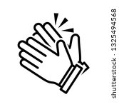 clapping hand icon vector eps 10 | Shutterstock .eps vector #1325494568