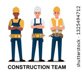 technician and builders and... | Shutterstock .eps vector #1325494712