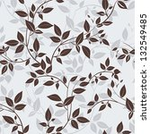 stylish vector seamless floral... | Shutterstock .eps vector #132549485