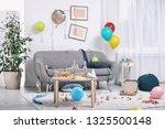 messy living room interior.... | Shutterstock . vector #1325500148