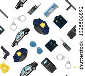 seamless police equipment set... | Shutterstock .eps vector #1325506892