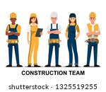 technician and builders and... | Shutterstock .eps vector #1325519255