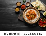 delicious butter chicken with... | Shutterstock . vector #1325533652