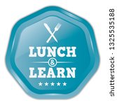 lunch and learn. vector blue... | Shutterstock .eps vector #1325535188