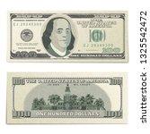 fake one hundred usa dollars... | Shutterstock .eps vector #1325542472