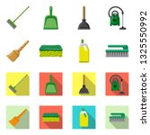 isolated object of cleaning and ... | Shutterstock .eps vector #1325550992