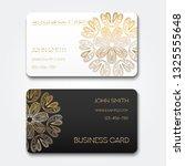 vector business card template.... | Shutterstock .eps vector #1325555648