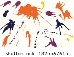 hand drawn set of colorful ink... | Shutterstock .eps vector #1325567615
