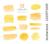yellow hand drawn splotches for ... | Shutterstock .eps vector #1325571035