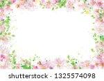 vector  floral  frame. pink...   Shutterstock .eps vector #1325574098