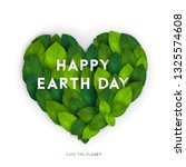 happy earth day card  banner or ... | Shutterstock .eps vector #1325574608