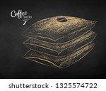 vector chalk drawn sketch of... | Shutterstock .eps vector #1325574722