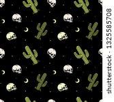 skull and cactus seamless... | Shutterstock .eps vector #1325585708