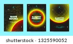 neon music posters  electronic... | Shutterstock .eps vector #1325590052