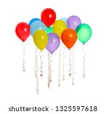many colorful balloons floating ... | Shutterstock . vector #1325597618
