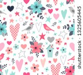 love seamless pattern with...   Shutterstock .eps vector #1325605445