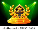casino symbol. banner with...