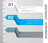 ribbon infographic design with... | Shutterstock .eps vector #132561545